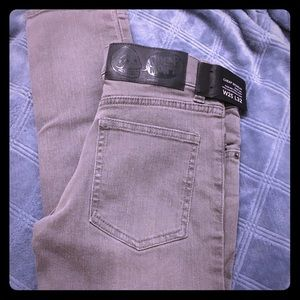 CHEAP MONDAY | Washed Grey Skinny Jeans Size 25x32
